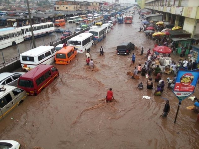 Two Hour Rains Flood Accra