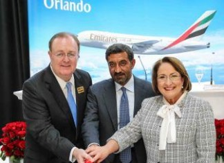 Emirates MCO Orlando Launch: Flight Arrival