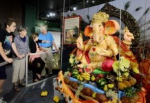 Ganesha display at The Children's Museum of Indianapolis 2015