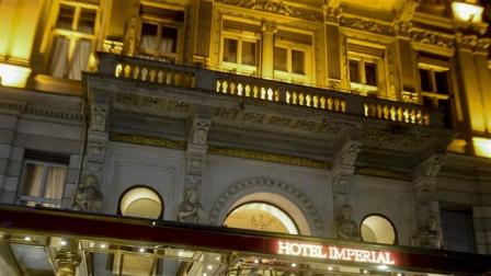 Imperial Hotel in Vienna, Austria where talks on Syrian crisis will take place.