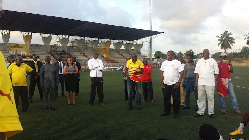 Officials from the Ghana Embassy meet the Local Black Stars.