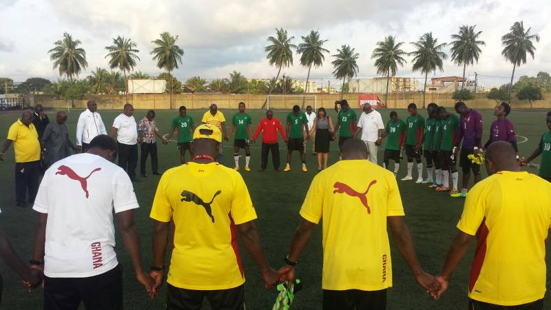 Local Black Stars in Abidjan to play Ivory Coast in CHAN qualifier.