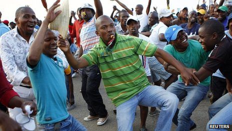 South Africa Platinum Workers