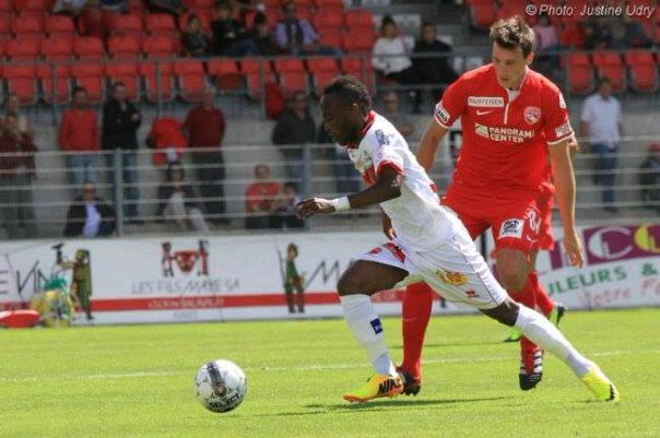 Wpid Ishmael Yartey In Action For Fc Sion Against Arsenal Tula Fc On Friday