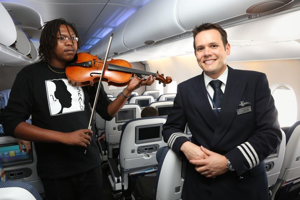 British Airways A Johannesburg Launch Peter Nye A Flight Manager Technical A Enjoying The In Flight Entertainment