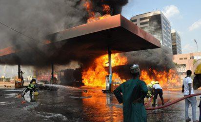 Fire Guts Petrol Station In Umuahia | News Ghana