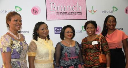 Executive Vice Chairman, Famfa Oil Limited, Mrs. Folorunso Alajika (middle), with guest at the event.