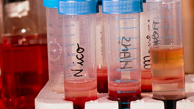 Tubes of chimp blood infected with an animal HIV virus