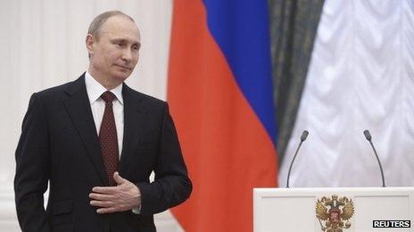 Figures around President Vladimir Putin have been the subject of EU and US sanctions