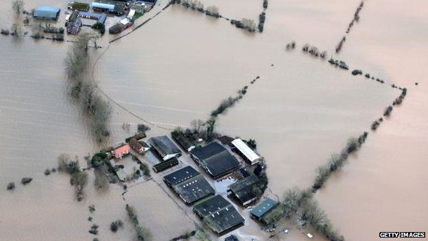 Many farms were deluged in the most recent winter floods