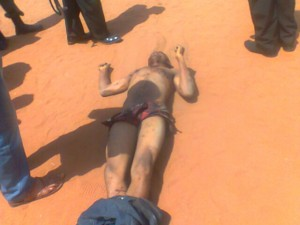 A robber lynched