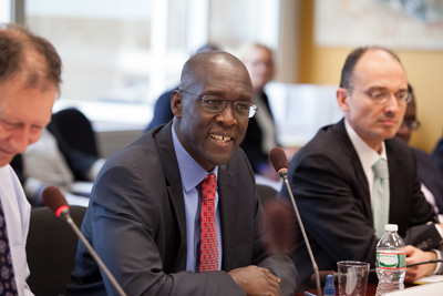 World Bank Vice President for the Africa Region Makhtar Diop meets with Civil Society Organizations during the World Bank-IMF Spring Meetings in Washington, DC.