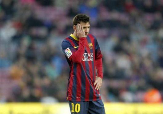 Barcelona striker, Messi