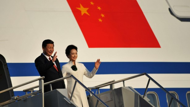 President Xi Jinping of the People's Republic of China and his wife Peng Liyuan. ?