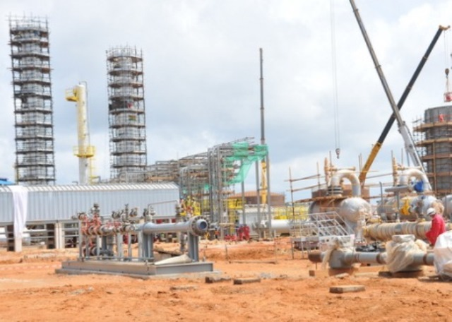 A view of the ongoing Atuabo Gas Processing Plant project