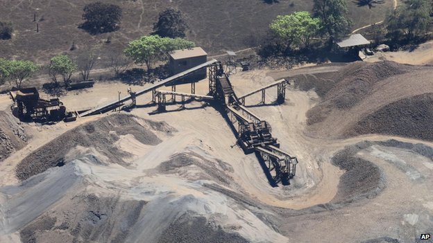 Police confiscated an iron ore mining operation belonging to a drugs cartel near Lazaro Cardenas in March