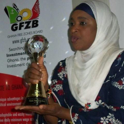 Hajia Hanatu Abubakar, showcasing the 2014 International Leadership Award.