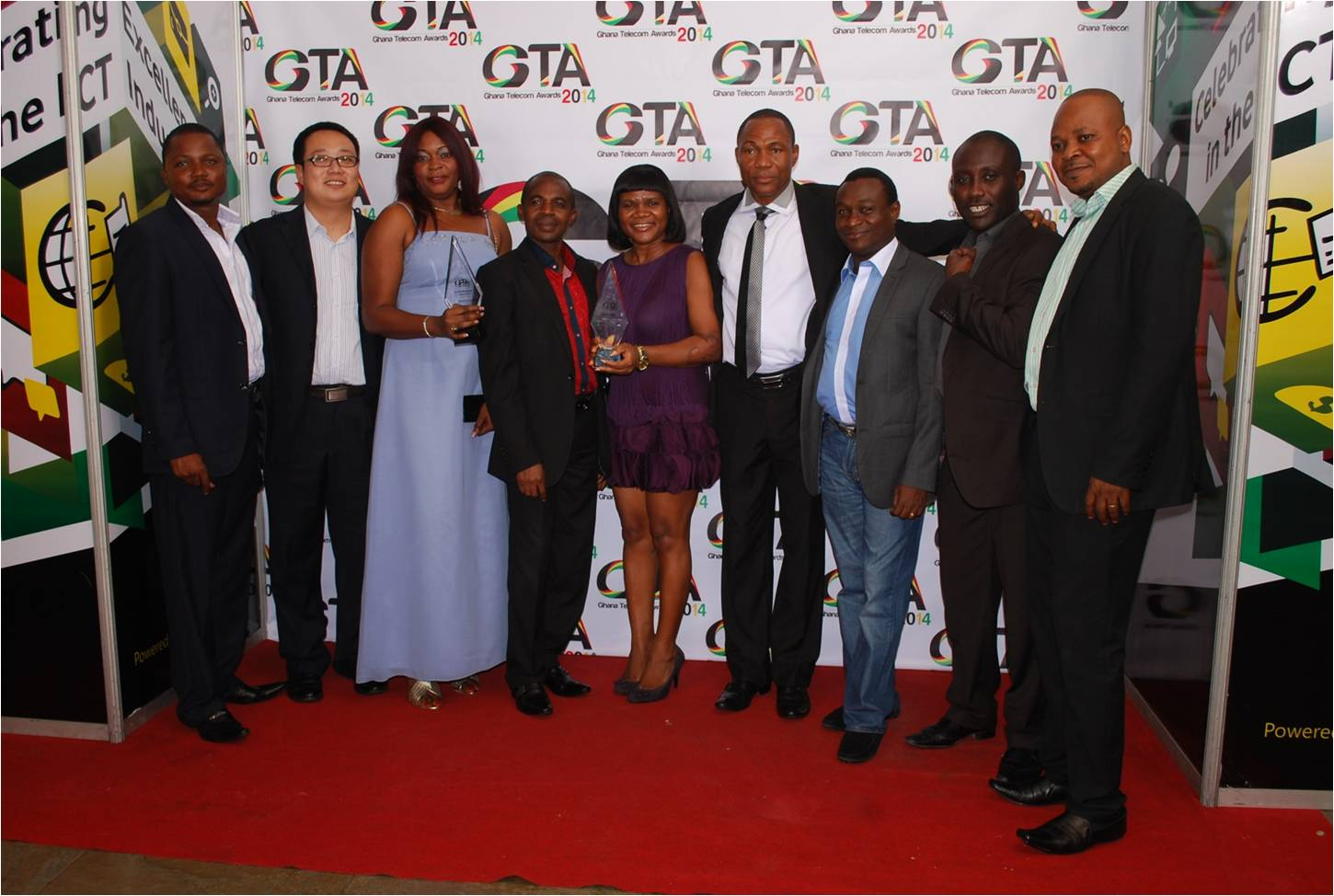 OFFICIALS OF TECNO AFTER RECEIVING THE AWARD