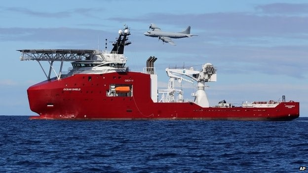 The Ocean Shield investigated what were thought to be pings from the submerged flight recorders