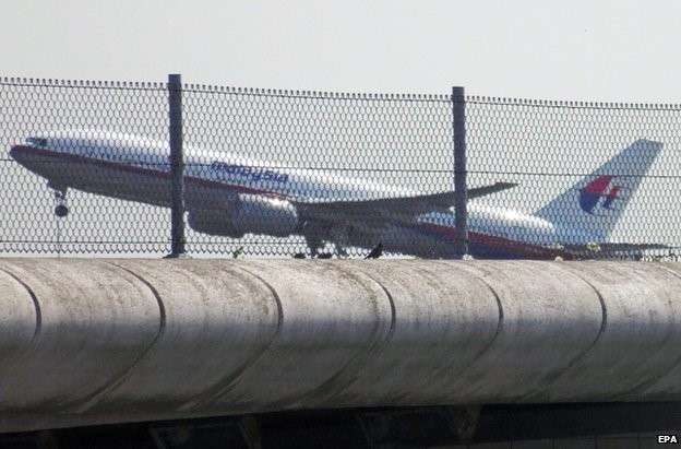 Flight MH17 leaving Schiphol Airport, Amsterdam, on Thursday afternoon