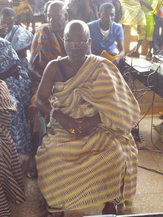 Nana Kwesi Wieni, the paramount chief of Shama traditional area.
