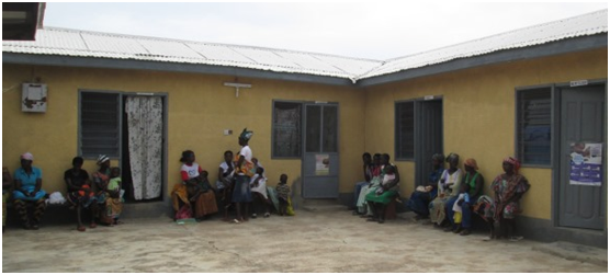 Patients waiting for services at a CHPS compound