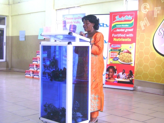 Madam Kuffour launching the 8th Edition of The Spelling Bee
