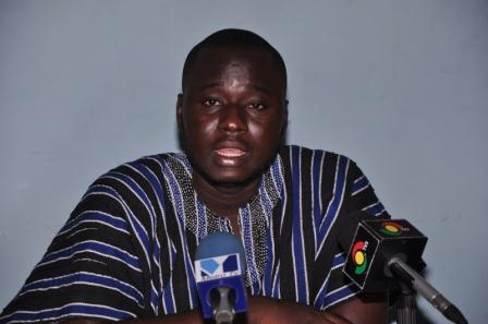 Mass Action committee leader, Mr. Atik Mohammed at the Press conference in Accra.