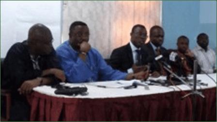 (L-R) Kobby Acheampong, Elvis Afriyie Ankrah, Fiifi Kwetey, Dr. Omane Boamah, Felix Kwakye Ofosu and Richard QuashigahNDC setting the records straight, Wed, 24/10/2012