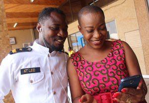 Funny Face and Akorfa Adjeani- Asiedu