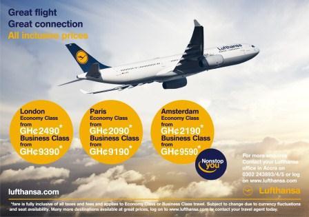 Lufthansa special fares promotion flyer