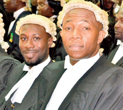NEW LAWYERS! Mohammed Muniru Kassim (right) with Michael Karikari-Yeboah
