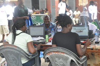National Health Insurance Scheme team registering participants