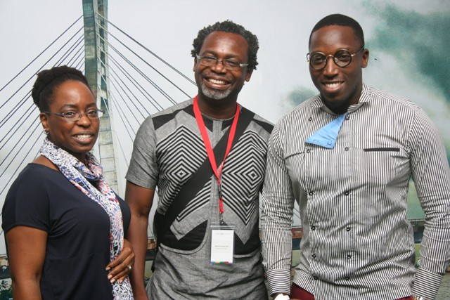 Country Marketing Manager, Google Nigeria , Affiong Osuchukwu; Professional Photographer, Kelechi Amadi-Obi and Google Celebrity Chef, Chef Eros at day 3 of the Google House Exclusive Demo event organized by Google Nigeria held in Lagos today.