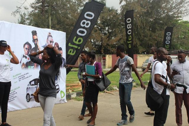 Students arriving at the Etisalat Cliqfest, University of Lagos, UNILAG recently.