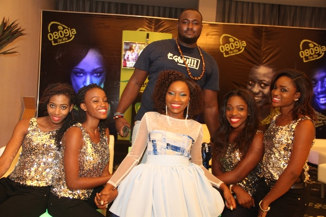 Winner Nigerian Idol Season 4, Zibili Evelyn (Evelle); and Winner Season 3 Nigerian Idol Moses Adigwe (Teddy Bear) at the 2014 Inspiration FM Summer Concert, Co-Sponsored by Etisalat Nigeria which took place recently.