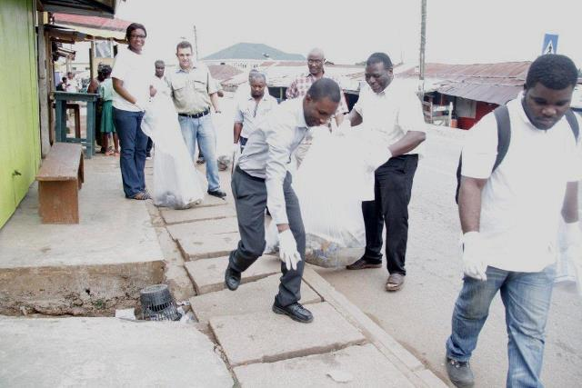 Steve Richard, Senior Vice President Human Resources. Leading the clean-up exercise with others
