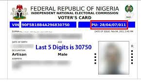 Nigerian Voters? Card