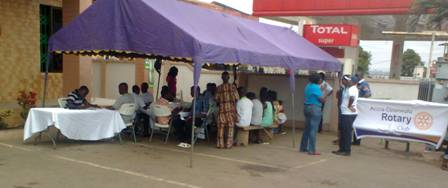 Members of the communities going through the process of screening