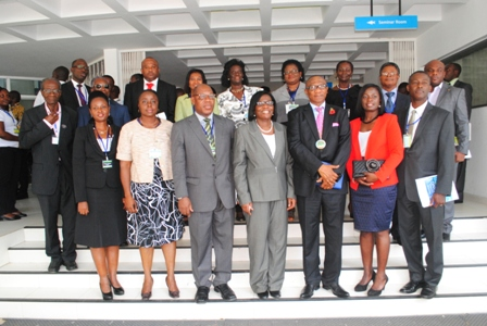 Lucy Quist (2nd from right) in a pose with executives of IPR