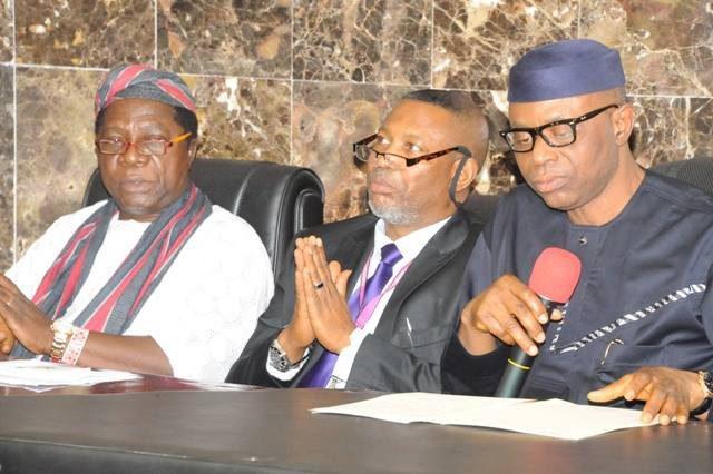 Hon Joseph Akinlaja Prof Femi Mimiko and Governor Olusegun Mimiko of Ondo State