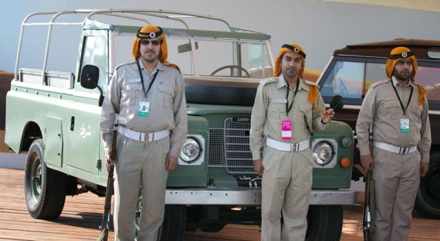 ADP Showcase its Old Patrol Cars on the Sidelines of the Formula 1 Race in Yas Island