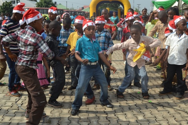 Dancing time at the Christmas party