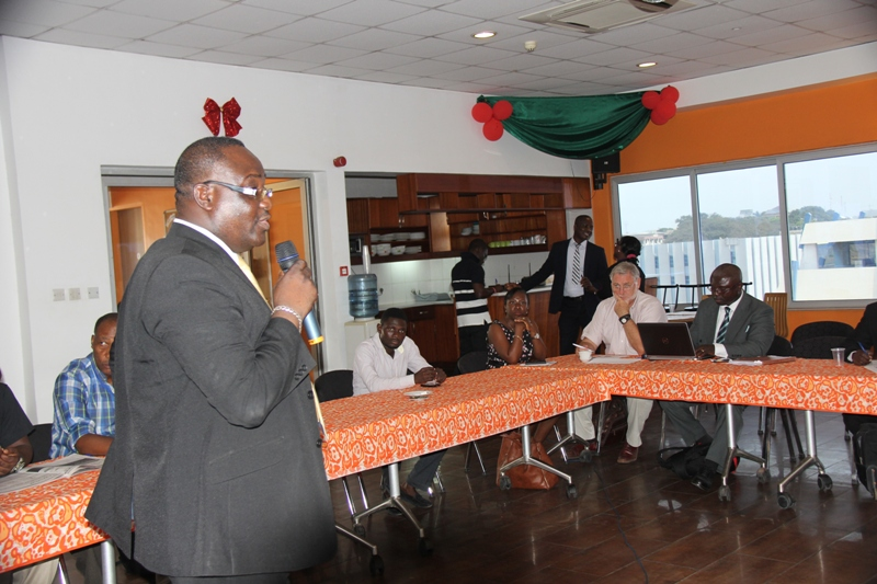 Dr Bernard Otabil, General Manager of the GNA and facilitator of the event, making a point.