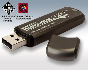 Kanguru Defender 2000 and Defender Elite200 are the world's only Common Criteria Certified secure USB Flash Drives, along with FIPS 140-2 Certifications. (Photo: Business Wire)
