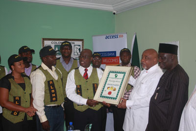 Kwabena Adjei dedicating the award to Ambassador Ademola Oluseyi Onafowokan