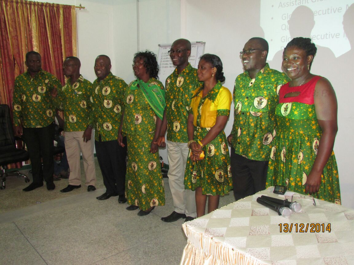 Newly elected Global Executive members