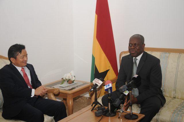 Vice President Amissah-Arthur responding to the Korea Ambassador
