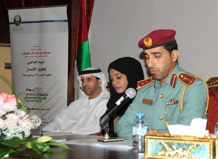 Colonel Al Shehhi and a number of speakers during the seminar