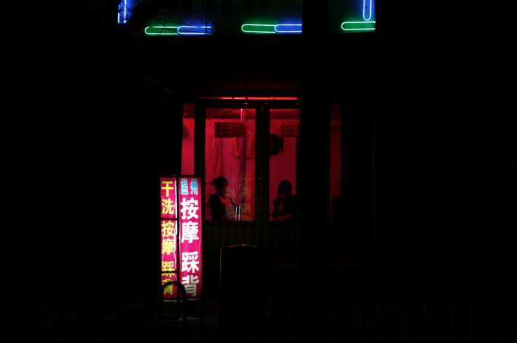 The red light zone in Weifang in Shandong Province (Reuters)